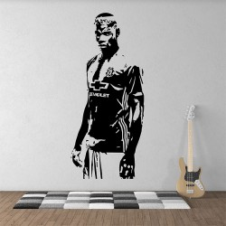 Paul Pogba Football Soccer Manchester utd  Vinyl Wall Art Decal (WD-1022)