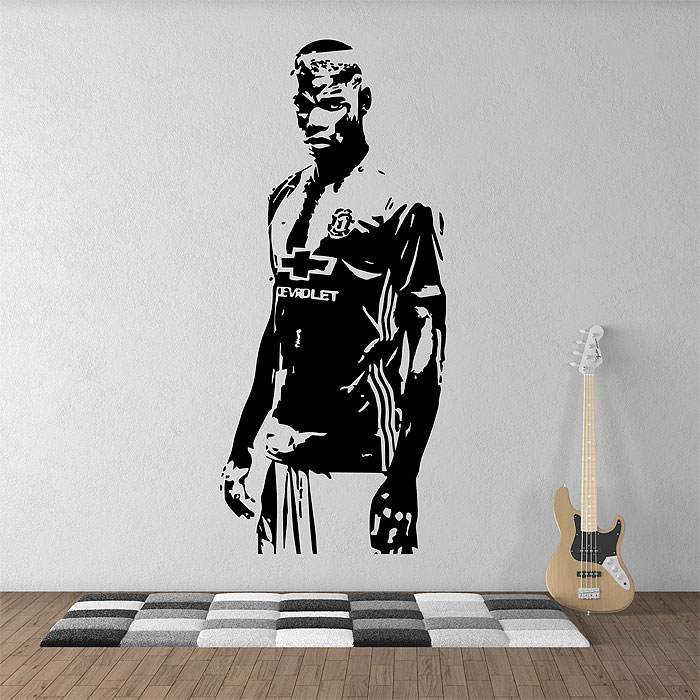 paul pogba football soccer manchester utd vinyl wall art decal