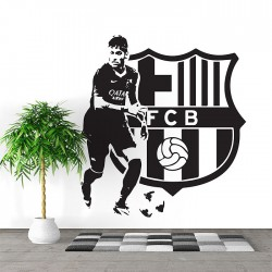 สติกเกอร์ติดผนังFC Barcelona Neymar Jr Football player / Wall Sticker (WD-1023)