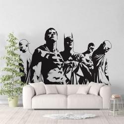 Justice League Super Heroes V2 Vinyl Wall Art Decal (WD-1025)