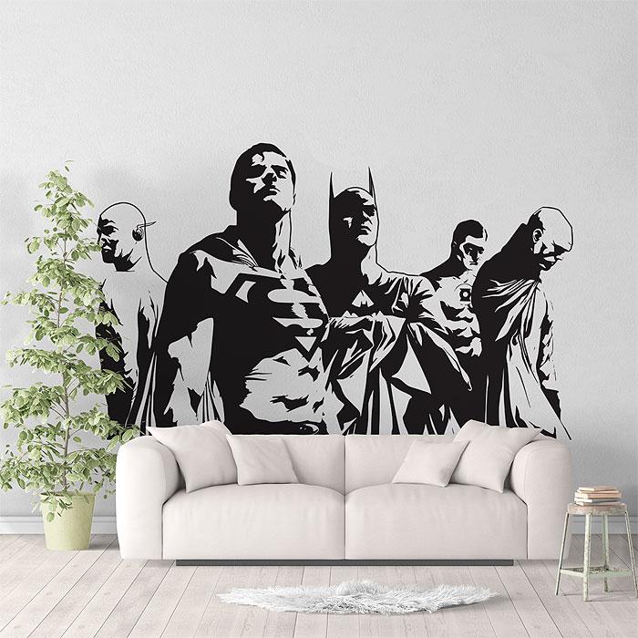 Justice League Super Heroes V2 Vinyl Wall Art Decal