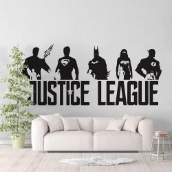 Justice League Super Heroes V3 Vinyl Wall Art Decal (WD-1026)