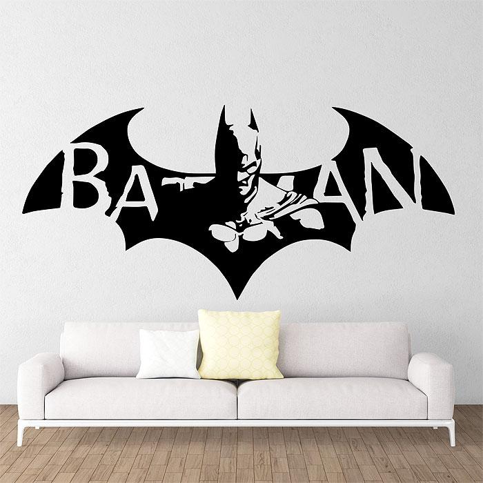 Batman dark knight super hero vinyl wall art decal for Batman wandtattoo