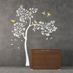 สติกเกอร์ติดผนังนก ต้นไม้  Tree and Birds / Wall Sticker (WD-1028)