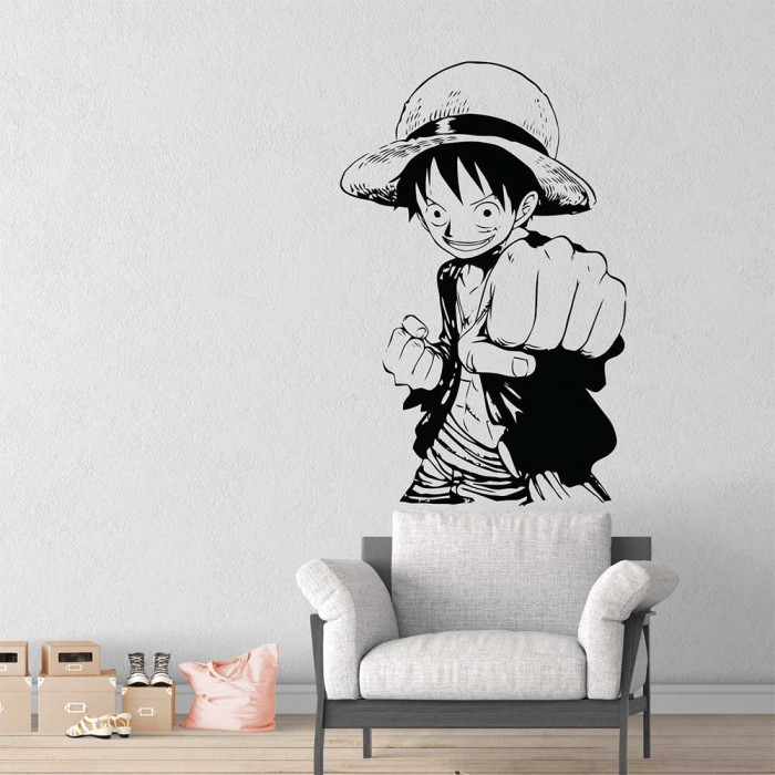 one piece monkey d. luffy vinyl wall art decal