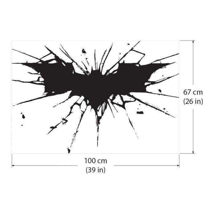 batman dark knight logo wandaufkleber wandtattoo