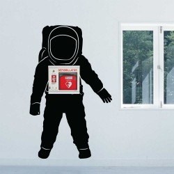 Space Astronaut Wall Decal for AED WAll Cabinet (WD-1035)