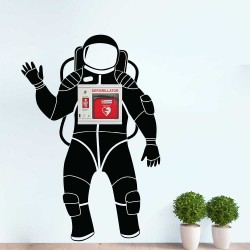 Space Astronaut Wall Decal for AED Storage Box (WD-1036)