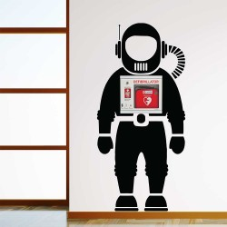 Space Astronaut Wall Decal for AED Defibrillator Storage (WD-1037)
