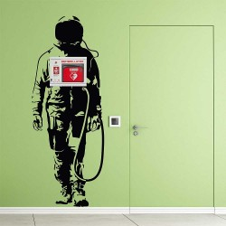 Banksy Space Astronaut Wall Decal for AED WAll Cabinet (WD-1038)