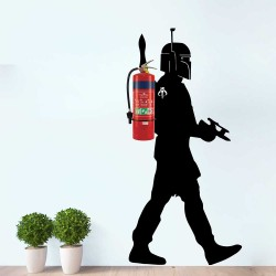 Fire Extinguisher Boba Fett Jetpack Star Wars Wall Decal (WD-1040)