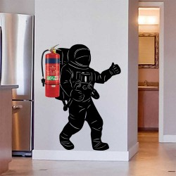 Space Astronaut Wall Decal for Fire Extinguisher (WD-1041)