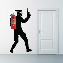 Rocketeer Jetpack Fire Extinguisher Vinyl Wall Art Decal (WD-1046)