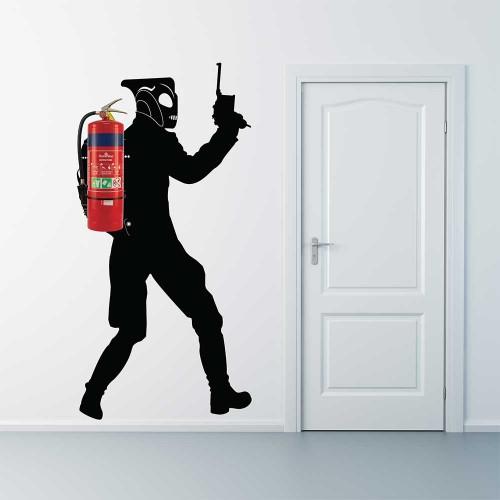 Rocketeer Jetpack Fire Extinguisher  Vinyl Wall Art Decal