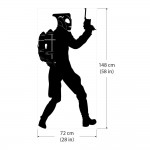 Rocketeer Jetpack Fire Extinguisher  Vinyl Wall Art Decal