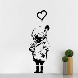 Banksy Tank Girl Vinyl Wall Art Decal (WD-1047)