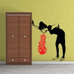 Banksy Love Sick Vinyl Wall Art Decal
