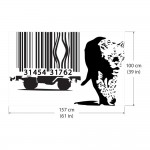 Banksy Barcode Leopard  Vinyl Wall Art Decal