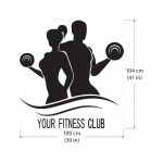 Man and Woman Fitness Sport Club Gym Vinyl Wall Art Decal