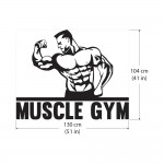 Bodybuilder Fitness Muscle Gym Sport Club Vinyl Wall Art Decal
