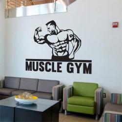 Bodybuilder Fitness Muscle Gym Sport Club สติกเกอร์ติดผนัง / Wall Sticker (WD-1067)