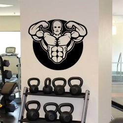 Bodybuilder Workout Motivation Fitness Sport Club Gym สติกเกอร์ติดผนัง / Wall Sticker (WD-1068)