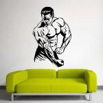 Bodybuilding Gym Sport Club Fitness สติกเกอร์ติดผนัง / Wall Sticker