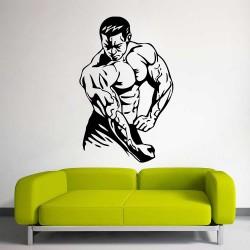 Bodybuilding Gym Sport Club Fitness Vinyl Wall Art Decal (WD-1073)