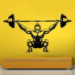 Ghost Rider Weight Lifting Bodybuilding Gym Sport Club Vinyl Wall Art Decal (WD-1074)