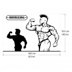 Bodybuilding Gym Sport Club สติกเกอร์ติดผนัง / Wall Sticker