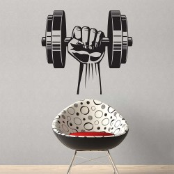 Hand Dumbbell Bodybuilding Fitness Sport Gym สติกเกอร์ติดผนัง / Wall Sticker (WD-1076)