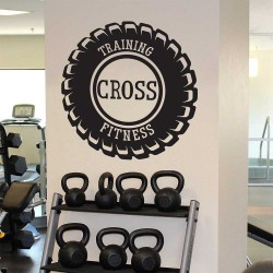 Training Cross Fitness Sport Gym  Vinyl Wall Art Decal (WD-1079)