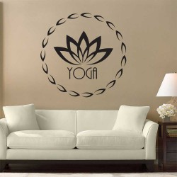 Yoga Logo Fitness Vinyl Wall Art Decal (WD-1080)