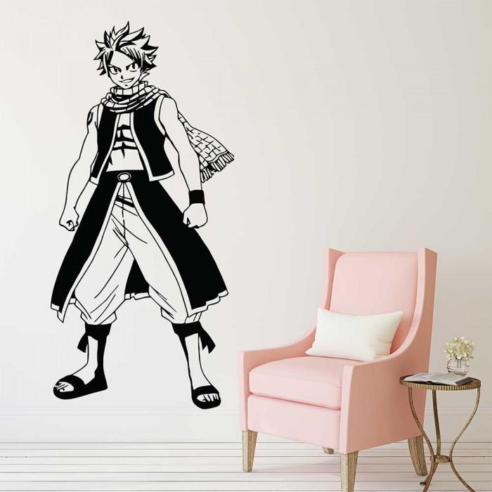 Natsu Fairy Tail Fire Dragon Vinyl Wall Art Decal