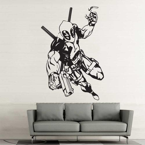 Deadpool Superhero Vinyl Wall Art Decal