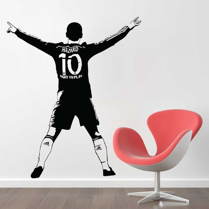 Eden Hazard Chelsea Football Vinyl Wall Art Decal