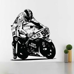 Marco Simoncelli Moto GP Vinyl Wall Art Decal (WD-1089)
