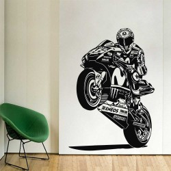 Valentino Rossi Moto Racing Vinyl Wall Art Decal (WD-1091)