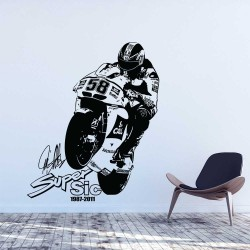 Marco Simoncelli Super sic 58 Vinyl Wall Art Decal (WD-1092)