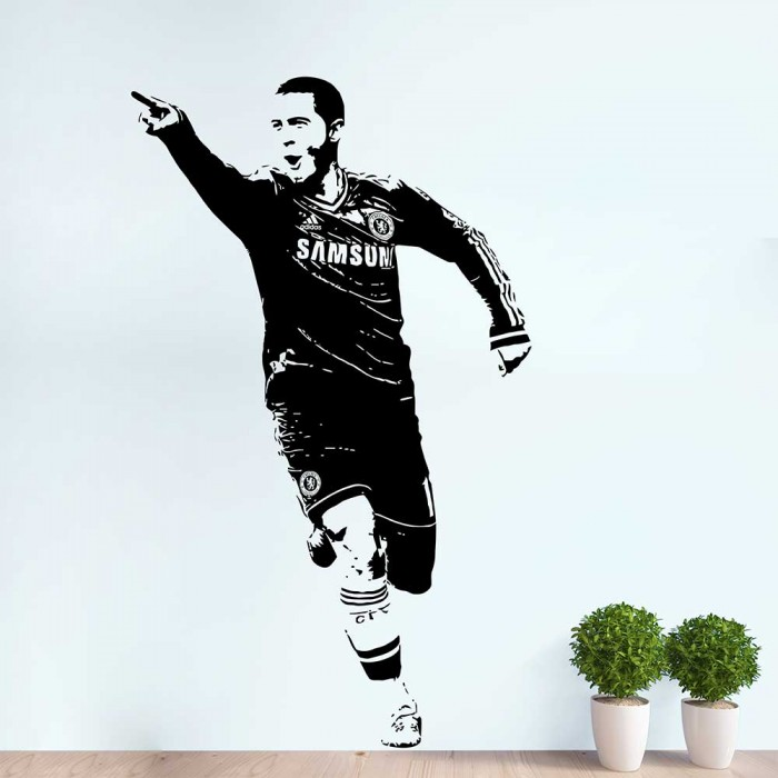 Eden Hazard Football Player Vinyl Wall Art Decal
