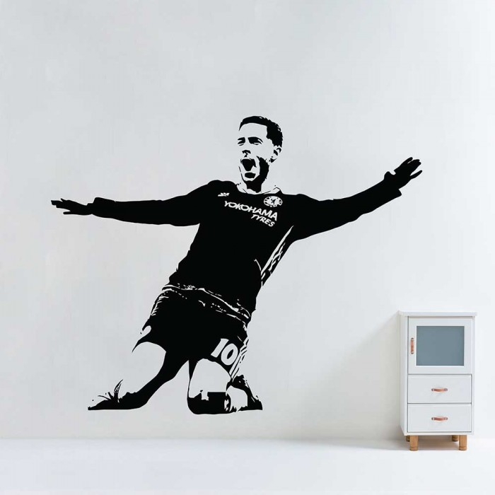 Eden Hazard Chelsea Fc Soccer Vinyl Wall Art Decal