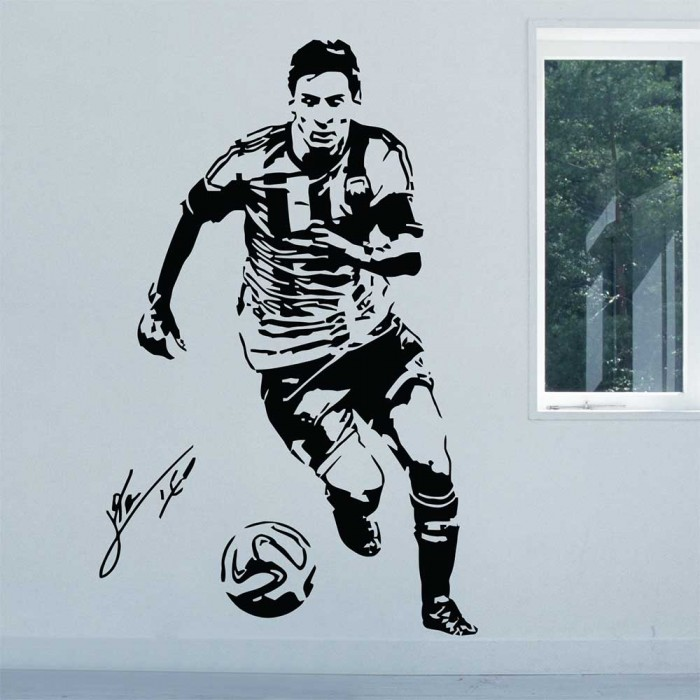 Lionel Messi Argentina Football Player Vinyl Wall Art Decal