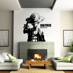 สติกเกอร์ติดผนัง / Wall Sticker  One Piece Never End Monkey D Luffy (WD-1122)