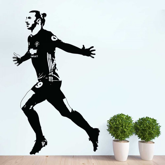 zlatan ibrahimovic la galaxy soccer vinyl wall art decal