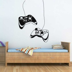 Game controller Vinyl Wall Art Decal (WD-1131)