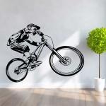 Mountain Bike Bicycle Vinyl Wall Art Decal