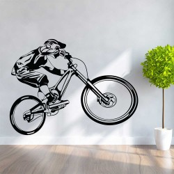 Mountain Bike Bicycle Vinyl Wall Art Decal (WD-1134)