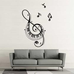 สติกเกอร์ติดผนัง โน้ตดนตรี  Music Note  / Wall Sticker  (WD-1136)