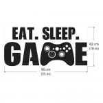 Eat Sleep Game Vinyl Wall Art Decal