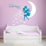 Fairy Pixiedust I Love You to the Moon Vinyl Wall Art Decal